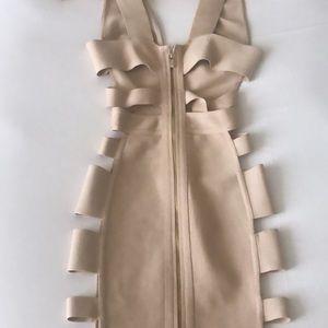 Scuba/ elastic rib dress